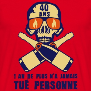 40 ans tete mort champagne tue personne Tee shirts - T-shirt Homme
