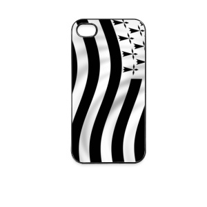Coque portable - drapeau breton - Coque rigide iPhone 4/4s