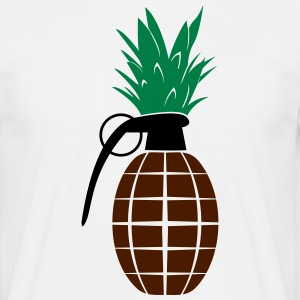 Pineapple Grenade  T-shirts - Herre-T-shirt