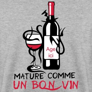 ajouter age mature bouteille vin anniver Sweat-shirts - Sweat-shirt Homme
