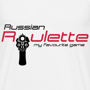 Russisk roulette T-shirts - Herre-T-shirt