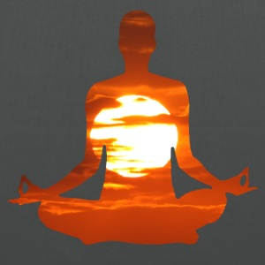 Yoga pose meditating in the sunset. 01 Bags & backpacks - Tote Bag