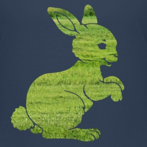 Easter bunny rabbit on the grass Sweet Child Motif Shirts - Kids' Premium T-Shirt
