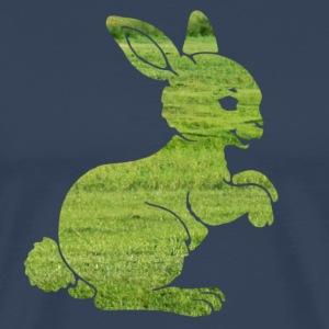 Easter bunny rabbit on the grass Sweet Child Motif T-Shirts - Men's Premium T-Shirt