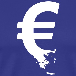 Euro Crisis Outline € T-Shirts - Men's Premium T-Shirt