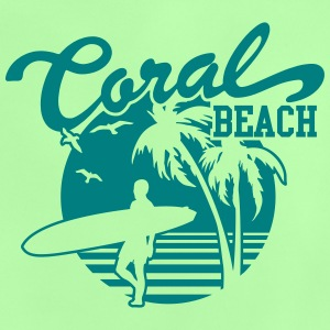 Coral Beach Surfers Heaven Shirts - Baby T-Shirt