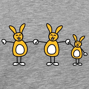 Funny Bunny Family T-shirts - Mannen Premium T-shirt