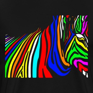 Colorful zebra colorful mythical beast T-Shirts - Men's Premium T-Shirt