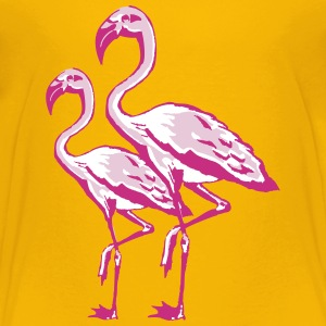 two flamingos Shirts - Kids' Premium T-Shirt