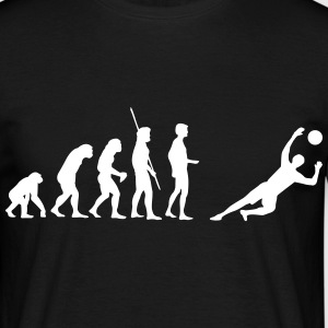 Evolution målmand sparer  T-shirts - Herre-T-shirt