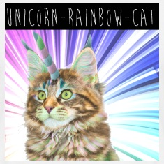 Unicorn Rainbow Cat Mannen T-shirt