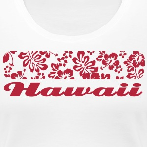 Hawaii floral pattern T-Shirts - Women's Premium T-Shirt