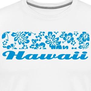 Hawaii floral pattern T-Shirts - Men's Premium T-Shirt