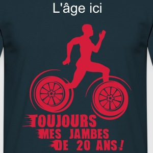 ajouter age ans jambes course sprinter Tee shirts - T-shirt Homme