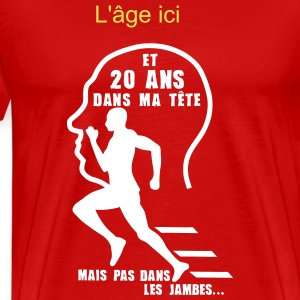 ajouter age ans tete jambes sport annive Tee shirts - T-shirt Premium Homme