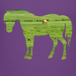 Horse on the pasture - Wide green meadows Shirts - Teenage Premium T-Shirt