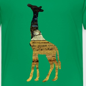 Giraffe in the steppe Shirts - Kids' Premium T-Shirt