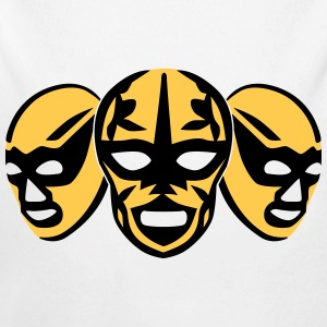 lucha libre masks Pullover & Hoodies - Baby Bio-Langarm-Body