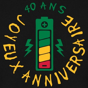 40 ans pile energie batterie anniversair Sweat-shirts - Sweat-shirt Homme