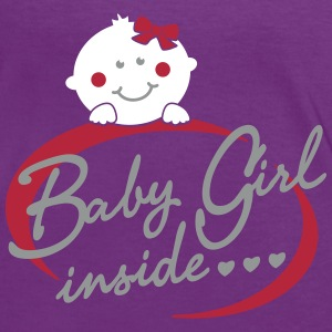 Baby Girl inside T-Shirts - Frauen Kontrast-T-Shirt
