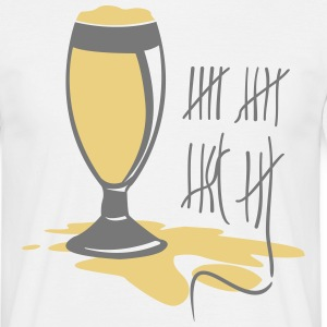Beer glass lines  T-Shirts - Men's T-Shirt
