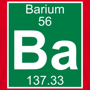 Elements 56 - ba (barium) - Full (white) T-shirts - T-shirt herr