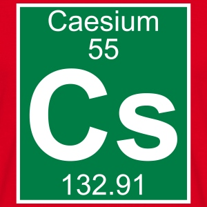 Elements 55 - cs (caesium) - Full (white) T-shirts - Mannen T-shirt