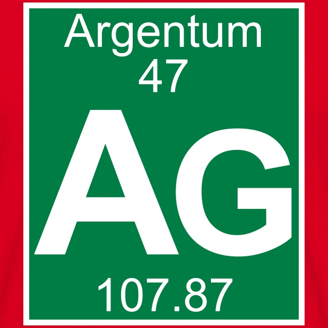 Periodic Table Words Argentum Ag Element 47 Full 2 Col Shirt