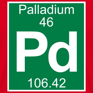 Elements 46 - pd (palladium) - Full (white) Magliette - Maglietta da uomo