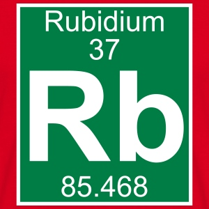 Elements 37 - rb (rubidium) - Full (white) T-shirts - Herre-T-shirt