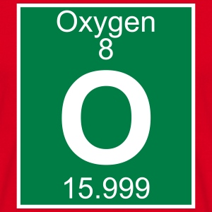 Elements 8 - o (oxygen) - Full (white) T-skjorter - T-skjorte for menn