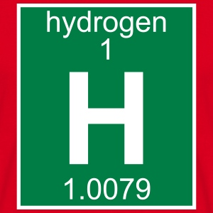 Elements 1 - h (hydrogen) - Full (white) T-skjorter - T-skjorte for menn