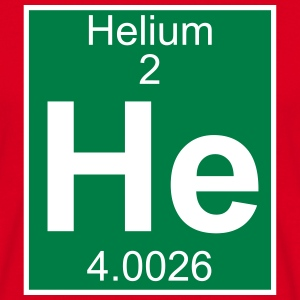 Elements 2 - he (helium) - Full (white) T-shirts - Mannen T-shirt