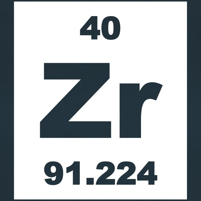 zirconium zr element 40 short invert shirt - Periodic Table Zr