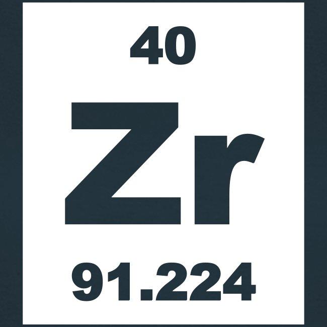 Periodic table words zirconium zr element 40 short invert zirconium zr element 40 short invert shirt urtaz Gallery