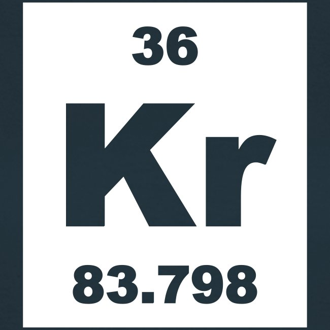 Periodic Table Words Krypton Kr Element 36 Short Invert