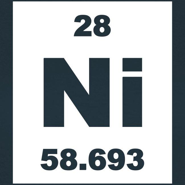 Periodic Table Words Nickel Ni Element 28 Short Invert Shirt