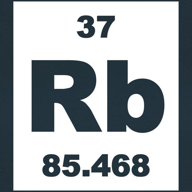Periodic Table Words Rubidium Rb Element 37 Short Invert