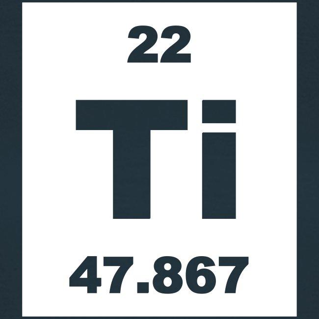 Periodic Table Words Titanium Ti Element 22 Short Invert