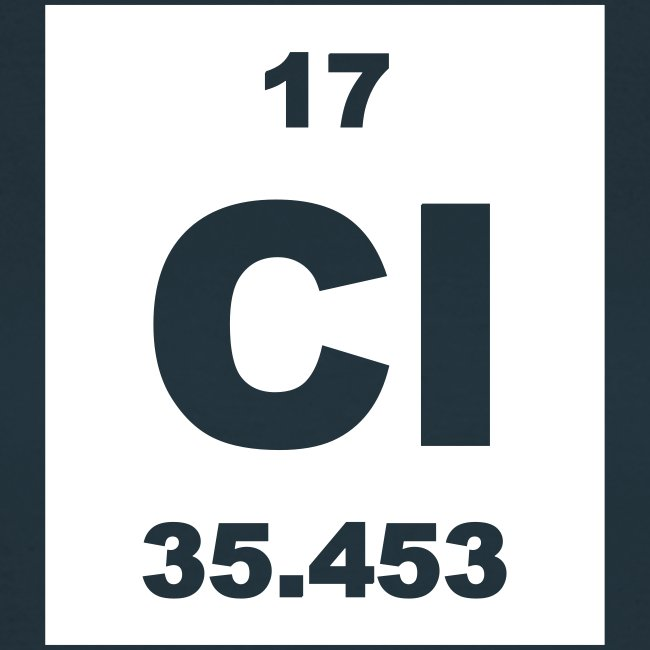 Periodic table words chlorine cl element 17 short invert chlorine cl element 17 short invert shirt urtaz Images