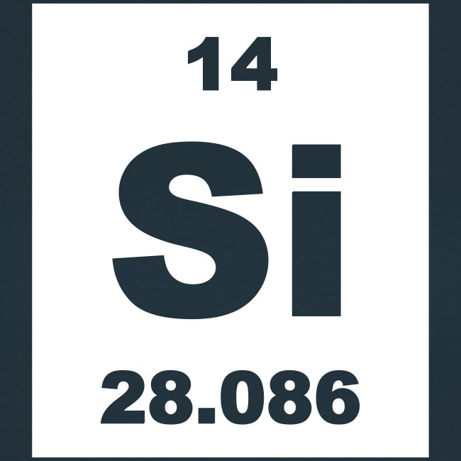 Periodic Table Words | Silicon (Si) (element 14) - short invert ...