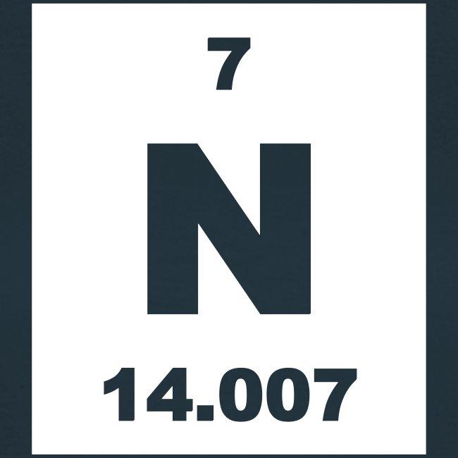Periodic Table Words Nitrogen N Element 7 Short Invert Shirt