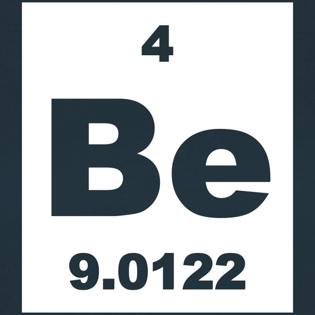 Periodic table words beryllium be element 4 short invert beryllium be element 4 short invert shirt urtaz Image collections