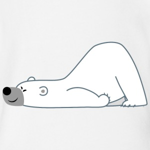 Facetious Cartoon Polar Bear by Cheerful Madness!! Shirts - Organic Short-sleeved Baby Bodysuit