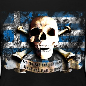 skull_and_flag_072013_greece_a T-Shirts - Frauen Premium T-Shirt