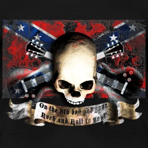 skull_and_flag_072013_sudstaaten_b T-Shirts - Frauen Premium T-Shirt