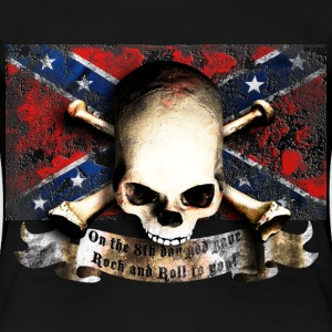skull_and_flag_072013_sudstaaten_c T-Shirts - Frauen Premium T-Shirt
