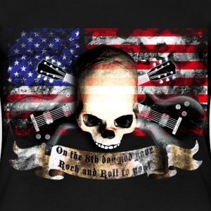 skull_and_flag_072013_usa_b T-Shirts - Frauen Premium T-Shirt