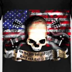 skull_and_flag_072013_usa_b T-Shirts - Kinder Premium T-Shirt