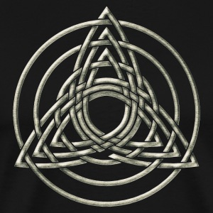 Triple Triquetra, Trinity, Symbol of perfection T-shirts - Mannen Premium T-shirt